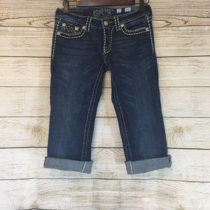 Miss Me Irene Boot Cut Capris Crop Denim Jeans 27